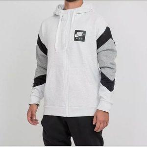 NWT Mens Nike Air Fleece Full Zip Hoodie Grey XL